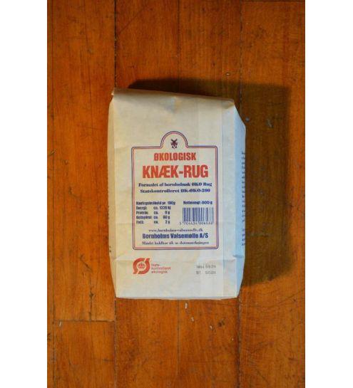 Bornholmsk Valsemølle Økologisk knæk rug 0,8 kg