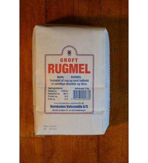 Bornholmsk Valsemølle Groft Rugmel 2 kg