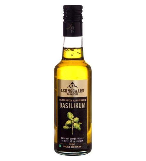 Lehnsgaard Rapskimolie m/basilikum 250 ml.