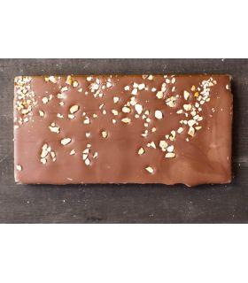 Svaneke chokoladeri plade krokant mørk 54%
