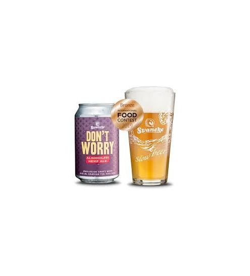 Svaneke Bryghus Økologisk Dont Worry Hemp Ale (alkoholfri), 33 cl.
