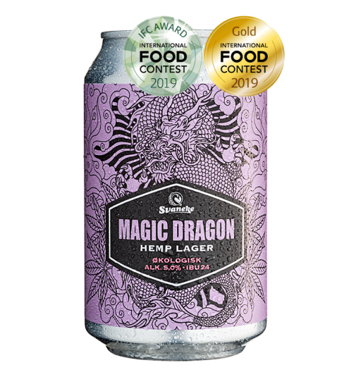Svaneke Bryghus Økologisk Magic Dragon Hemp Lager, 33 cl.