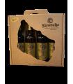 Svaneke Bryghus Sorte muld, 20 års jubilæums øl gaveæske, 4 stk.