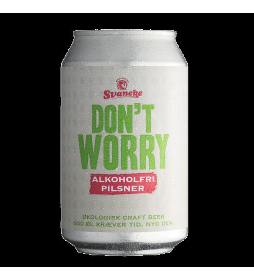 Svaneke bryghus Økologisk Dont Worry Alkoholfri Pilsner, 33cl.