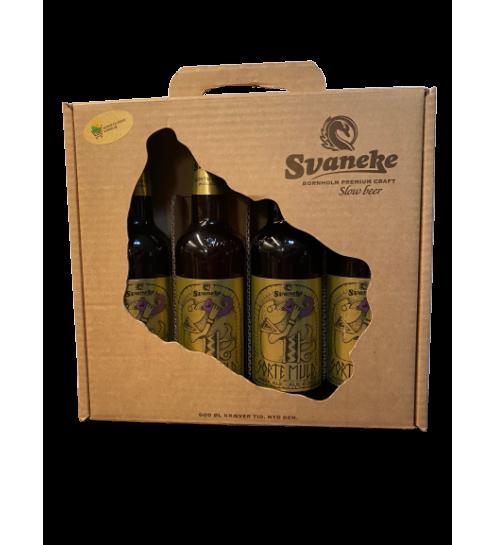 Svaneke Bryghus bland selv øl gaveæske, 4 stk.