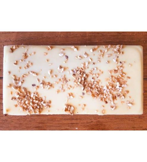 Svaneke chokoladeri plade Ren hvid chokolade med krokant