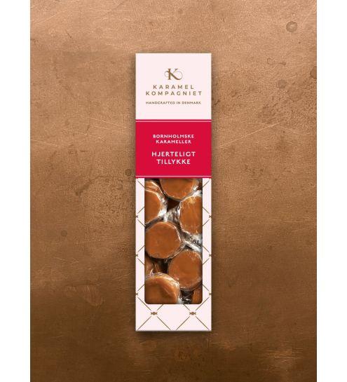 Karamel kompagniet Hjerteligt tillykke Håndlavede Karameller
