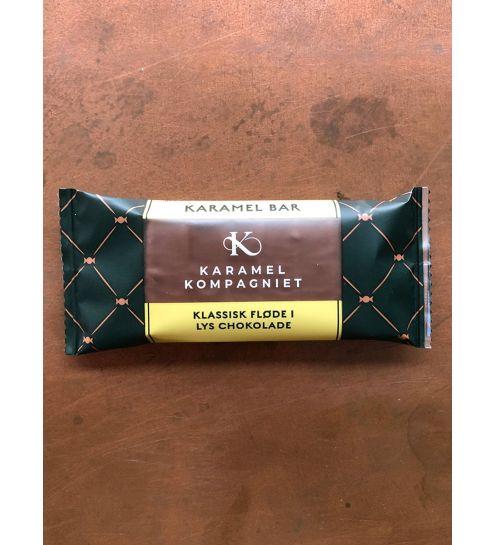 Karamel kompagniet Klassisk fløde i lys chokolade Slentre Bar