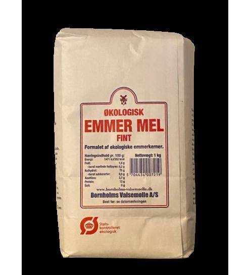 Bornholmsk Valsemølle Økologisk Emmermel fint ( sigtet ) 1 kg