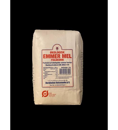 Bornholmsk Valsemølle Økologisk Emmermel fuldkorn 1 kg