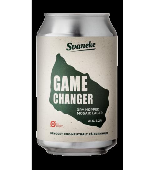 Svaneke bryghus Økologisk Game Changer Dry Hopped Mosaic Lager, 33 cl.